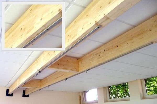 Standard-Schiene auf Holz-Unterkonstruktion